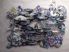 【切り絵】;ジューンブライドのウエルカムボード の画像|小娘の切り絵制作日記