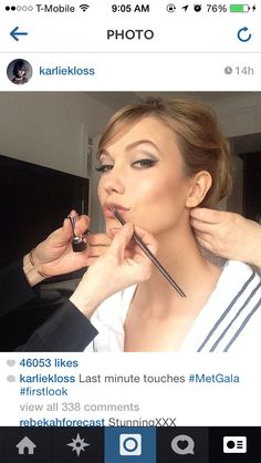 Karlie Kloss's makeup for the 2014 MetGala