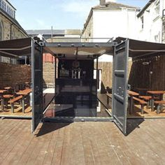 Shipping Container Conversion  Shipping container converted into a cocktail bar  http://www.dainton.com/eshot/pbs_customer_newsletter.html