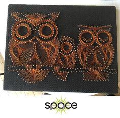 COOL VINTAGE 1970s COPPER METAL OWL OWLS STRING WALL ART RETRO MID-CENTURY