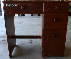 Project #476: Refinish desk for Parker's room