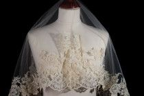 stunning Chantilly lace veil purchased in 1963 (could be older) in MINT condition