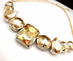 Swarovski golden statement necklace