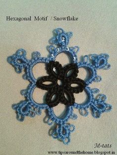 muskaan's T*I*P*S: Tatting Patterns II : 2 Simple Motifs / Snowflakes