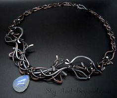 Guardian Of The Inner Flame Dignity Necklace by SkyAndBeyond Wire Wrapped Necklace, Copper Necklace, Copper Jewelry, Gemstone Jewelry, Beaded Necklace, Necklaces, Custom Jewelry, Vintage Jewelry, Handmade Jewelry