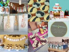 mustache and ties...cute theme for a boy/man party
