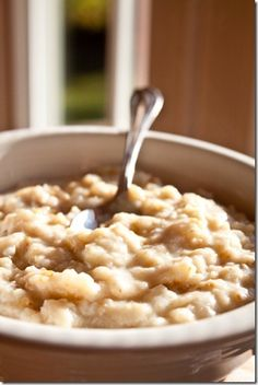 Egg White Whipped Oatmeal 300 calorie  2/3 c old fashioned rolled oats  4 egg whites, beaten with fork until frothy  1/2 tbsp salted butter  1/2 tsp pure vanilla extract