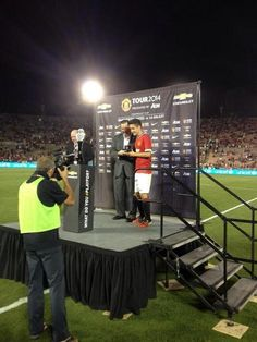 Ander Herrera was named Man of the Match on his debut with 3 assists as United beat LA Galaxy 7-0 #MUFC