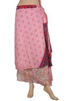 Boho Gypsy Indian Dress Recycled Printed Sari