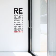 French.«RE for Reuse,Recycle,Restore,Repair etc...