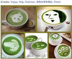 We think that it's always good to use your creativity, how about some matcha art! - think #Matcha