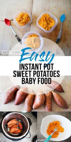 Instant Pot Baby Food, Easy baby Food recipes, How to make baby food, pressure cooker baby food, healthy organic babyfood recipes, quick baby food recipes