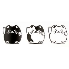 E7552 cartoon lucky cat wallpaper wall stickers 3 US ★ More on #cats - Get Ozzi Cat Magazine here >> http://OzziCat.com.au ★