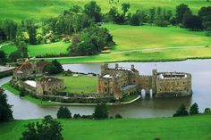 Leeds Castle, Leeds England. One of the greenest most gorgeous tranquil places I have ever seen!