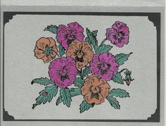 Pansy Patch Note Card by inkieannie on Etsy, $3.75