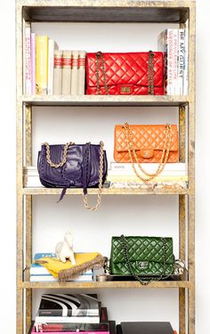 books, chanel handbags, candy colors, chanel bags, dream, designer handbags, display, designer bags, purses