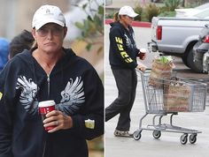 Sporting diamante earrings, a French manicure and his signature ponytail, Bruce Jenner looked a shadow of his former self as he stopped by Starbucks and picked up some groceries before going home on Dec. 3, 2014, as reported by X 17.