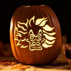 Cruella De Vil Pumpkin Carving Template
