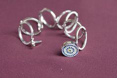 Ring Bracelet Evil Eye Bracelet Evil Eye Ring Blue by CreaCJewelry