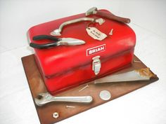 Tool Box Cake For Dad!