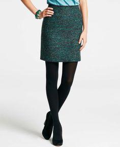 Petite Midnight Tweed Pencil Skirt    last but not least!