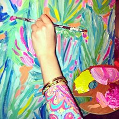 A-L-W-A-Y-S a paint party with Lilly Pulitzer