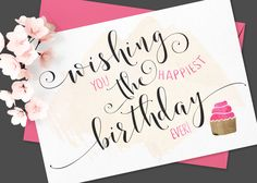 Storybook Calligraphy Script by Emily Spadoni on @creativemarket  Happy Birthday to the ones celebrating it today.. :) :)  ~Rie