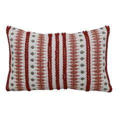 Better Homes & Gardens x Outdoor Toss Pillow, Red Woven Patio Pillows, Toss Pillows, Farmhouse Decorative Pillows, Red Farmhouse, Blue Weave, Disney Paintings, Outdoor Couch, Best Pillow, Better Homes And Gardens