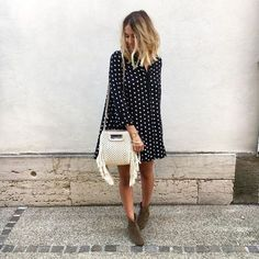 """3,341 mentions J'aime, 57 commentaires - Pauline (@paulinetrrs) sur Instagram: """"B o h o 👱🏼♀️ #ootd #outfit #wiwt #fwis #robe #zara #sac #maje #bottines #dickers #isabelmarant…"""""""