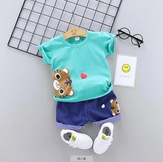 Baby & Toddler Clothing, Toddler Outfits, Kids Outfits, Children Clothing, Baby Boy Quilt Patterns, Baby Boy Quilts, Little Boy Outfits, Baby Boy Outfits, Summer Baby