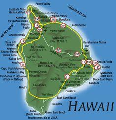 big island hawaii free printable maps hawaii big island map ohana huaka 39 i pinterest. Black Bedroom Furniture Sets. Home Design Ideas