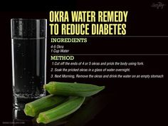 "Okra, also known as ""lady's fingers"" and ""gumbo,"" is a green flowering plant. Okra packs a potassium punch, has many vitamins and minerals and is nearly calorie-free. And guess what? Drinking water in which okra has been soaked"