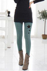 Stylish Elastic Waist Star Pattern Hollow Out Bodycon Ankle Pants For Women (GRAY,ONE SIZE) | Sammydress.com Mobile