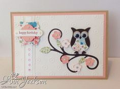 Stampin Up Owl Punch card.