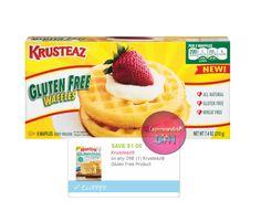 Krusteaz Gluten Free Waffles a solo $1.66 en Walmart