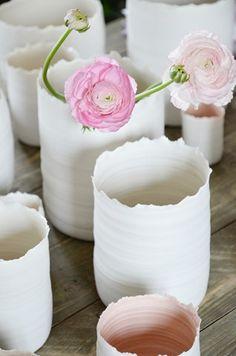 vaser och ljuslyktor från Kajsa Cramer