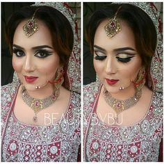 Makeup by bushra nazer Beautiful Eye Makeup, Beautiful Eyes, Eye Makeup Steps, Makeup Step By Step, Step By Step Instructions, Suit, Bridal, Gorgeous Eyes, Pretty Eyes