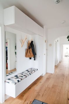 house Entryway, entry hall, renovation of a Bungalow House Design, Home Deco, Entry Hallway, Home, Small Spaces, Hallway Storage, House, Interior, House Entrance