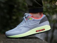 check out 0b3e5 0bc57 Nike Air Max 1 FB Wolf Grey Liquid Lime Pink is the newest Air Max 1 Fb to  release.