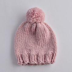 Gestrickte Babyhaube Knitted Hats, Baby, Knitting, Fashion, Tricot, Handmade, Products, Breien, Children