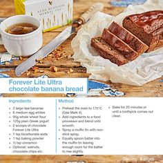 Forever Lite Ultra Chocolate Banana Bread www.AloeLiving.net