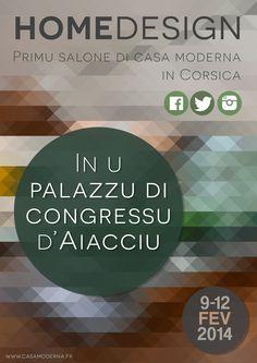 "Affiche ""Salon home design Ajaccio"" (Projet) #affiche #pixels #triangle #home #design"