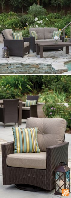 Welcome spring with a new patio set. Made from steel and hand-woven resin wicker, this stylish Hampton Bay set offers both comfort and durability. Shop now at HomeDepot.ca: http://hdepot.ca/2oQjTyZ