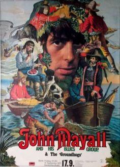 MAYALL-JOHN-1971-Konzertplakat-Kieser-Groundhogs-Tourposter-A0