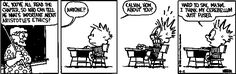 Calvin and Hobbes School Cartoons - view our flight schools at learntofly.co.nz