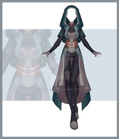 [Close] Adoptable Outfit Auction 274 by Kolmoys on DeviantArt Clothing Sketches, Dress Sketches, Fantasy Character Design, Character Design Inspiration, Fashion Design Drawings, Fashion Sketches, Super Hero Outfits, Cute Outfits, Super Hero Costumes
