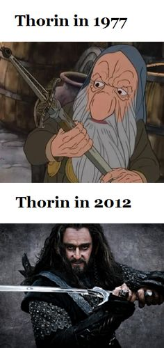 Thorin and Thorin 1977 cartoon hobbit Thranduil, Legolas, Aragorn, Midle Earth, The Misty Mountains Cold, Concerning Hobbits, Fili And Kili, Desolation Of Smaug, An Unexpected Journey