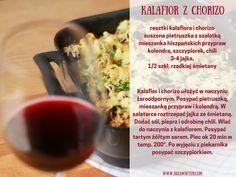 Kalafior z chorizo przepis
