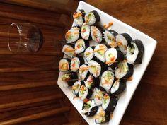 Veggie sushi Veggie Sushi, Birthday Dinners, Rabbits, My Best Friend, Veggies, Eat, Friends, Ethnic Recipes, Food