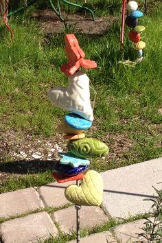 Ceramic yard art